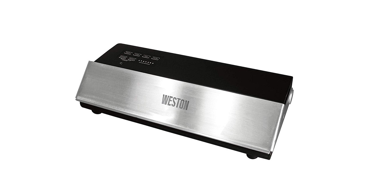 Weston 65 0501 W Professional Advantage Stainless Steel and Black Vacuum Sealer image