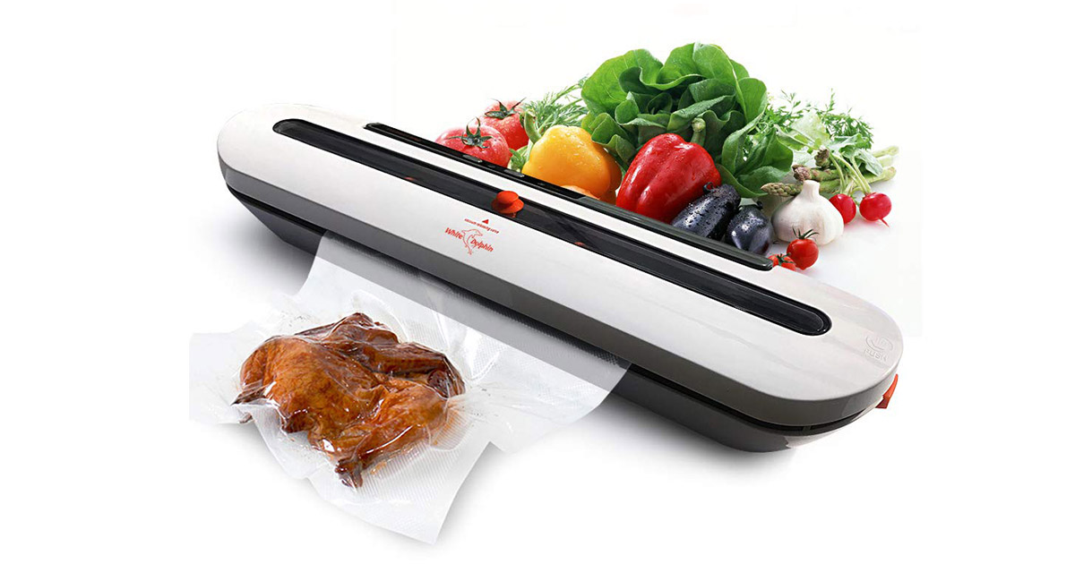 White Dolphin 02G Gray Vacuum Sealer Machine image