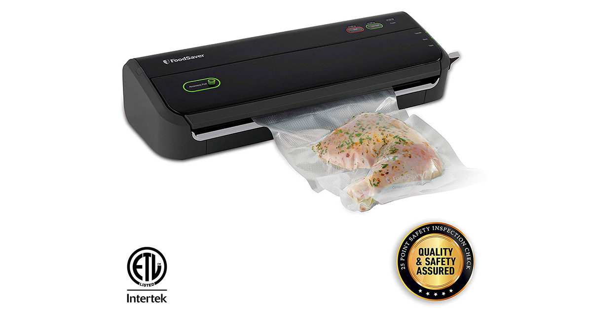 FoodSaver FM2000 Black Vacuum Sealer Machine image
