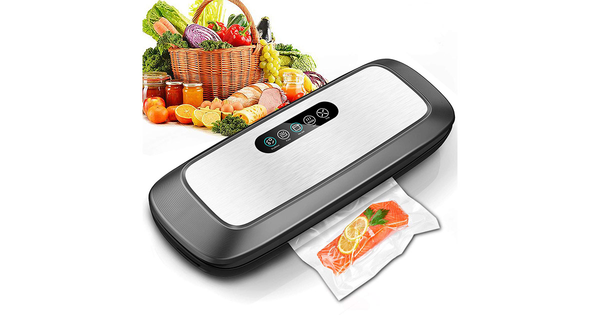 ZUZPAO Stainless Steel Panel Touch Control Automatic Food Vacuum Sealer Machine image