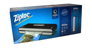 Ziploc V159 Black Vacuum Seal Food Saving Machine image